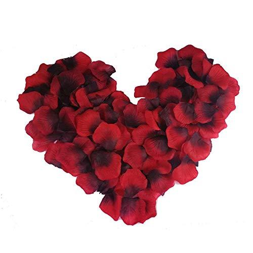 Febbya Rosenblätter,2000 Stück Blütenblätter Künstliche Blumen für Hochzeit Konfetti Valentinstag Kunst 5X5cm