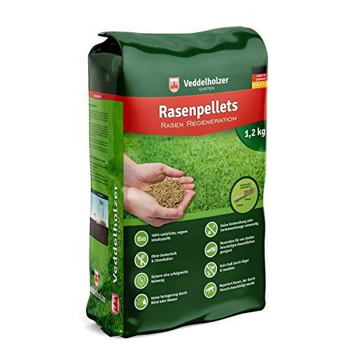 Veddelholzer Garten Rasenpellets Regeneration Rasen - Rasensamen für robusten und widerstandsfähigen Rasen - Grassamen für 40 m² zur Einsaat und Nachsaat - Samen geeignet für Schattenrasen