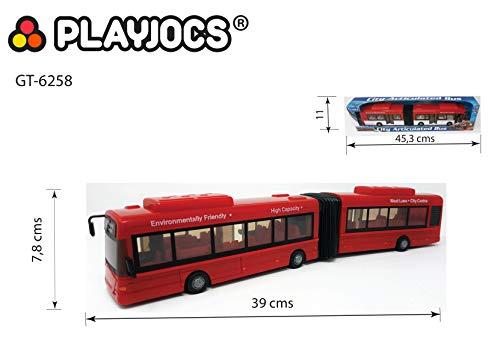 PLAYJOCS GT-6258 Gelenkbus / Stadtbus / Linienbus, 41cm Miniaturmodell Modellauto