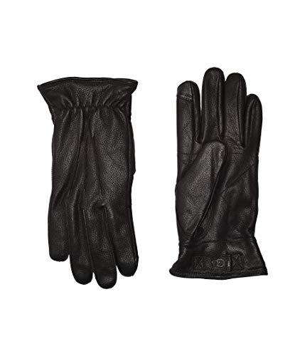 UGG Mens 3 Point Leather Glove, black, m