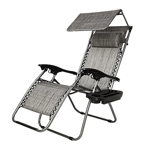 Al aire libre Silla de salón Zero Gr-Avity Sillón con toldos de ocio reclinables reclinables sling silla plegable silla de playa silla de playa camping chaise al aire libre loungegray chaise lounge po
