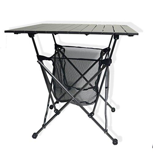 Chang Xiang Ya Shop Table de Pique-Nique extérieure Portable Table de Rangement Noire Pliable Table Barbecue rectangulaire de Plage 69X69X70 cm (27,1 * 27,1 * 27,5 Pouces)