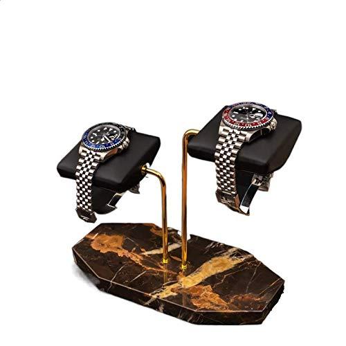 Watch stand-Two watch Handcrafted watch holder (Midnight Portoro)