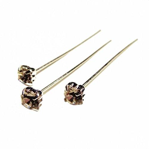 12pieza Oasis® Diamante Flex de pins transparente/plata 41–623815mm de diámetro cabeza L = 6cm