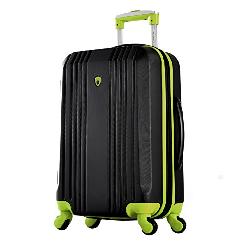 "Olympia Apache Ii 21"" Carry-on Spinner, BLACK+LIME, One Size"