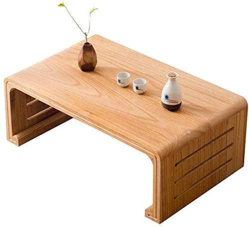 Kaffeetische LQ Couchtische Gartenmöbel Japanischen Einfaches Massivholz antike Tisch Seitenscheibe Bett Balkon Kleine Paulownia (Color : Natural, Size : 60 * 40 * 30cm)