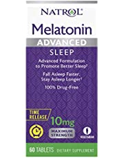 Natrol Melatonin Advanced Sleep Time Release -10 mg - 60 Tablets