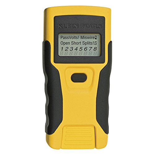 Klein Tools VDV526-052 Cable Tester, LAN Scout Jr. Network Tester / Continuity Tester for RJ45 Data Cable Twisted Pair Connections