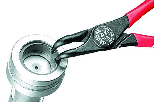 Gedore 8000 J 21 - Alicate de puntas para arandelas interiores, forma D,19-60 mm