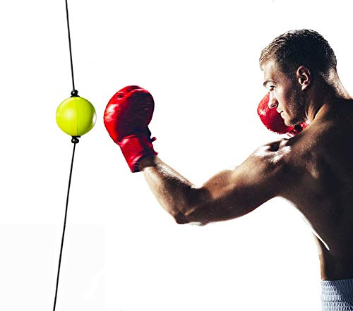 Boxing Reflex Ball for Hand Eye Coordination, Boxing Equipment for Training at Home, Double End Punching Ball, Workout for Adults & Kids Indoor, No Hammer for Installing, Anxiety Stress Relief.