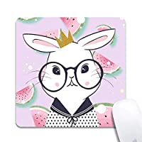 Funny Bunny Extended Ergonomic Gaming Mouse Pad、Square 200x200x3mm Mouse Pad Custom Design Rubber Square 200x200x3mm Mouse Pad-Funny Bunny