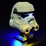 WWEI Juego de luces LED para 75276 compatible con casco Lego Star Wars Boba Stormtrooper (no incluye modelo Lego).