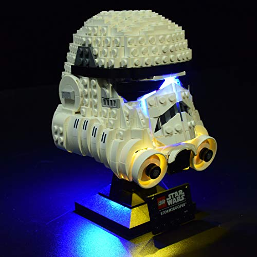 ZCXX Juego de iluminación LED compatible con casco Lego 75276, sin set Lego