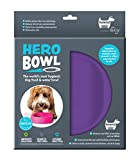 hownd Hero Dog Bowl Pet Products- Antimicrobial Dog Bowl - Actively Kills Microbes, Such as Bacteria, Mold and Fungi, up to 99.99% on Bowls Surface- Hygienic Dog Bowl (Small, Lavender Blush)