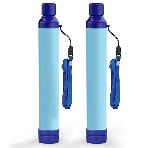 Amorom Water Filter Straw, Portable Outdoor Survival Personal Water Filtration System for Camping...