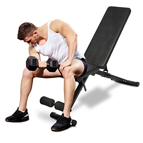 Adjustable Weight Bench for Full Body Workout Bench Multi-Purpose Utility Sit Up Weight Bench Strength Training Bench Press for Home Gym
