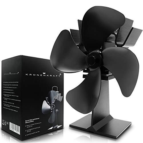 Stromloser Ventilator von KRONENKRAFT - Kamin Ventilator stromlos - Ventilator für Holzöfen - Ofen Ventilator für optimale Verteilung der Luft