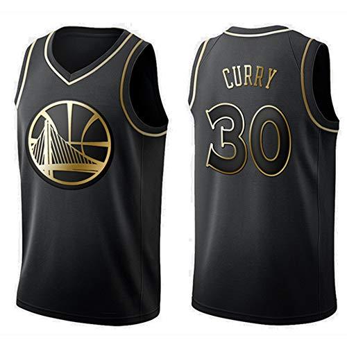 Baloncesto Jersey De Los Hombres De La NBA De Oro State Warriors Stephen Curry 30 Jeugd Entrenamiento Deportivo Ademend Kleding Black-L