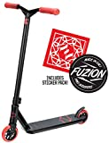 Fuzion Z250 Pro Scooter - All 4.37' x 20.5' Deck Dimensions - 110mm Aluminium Core Wheels - HIC Compression System -Chromoly T-Bars (2018 Oil Slick)