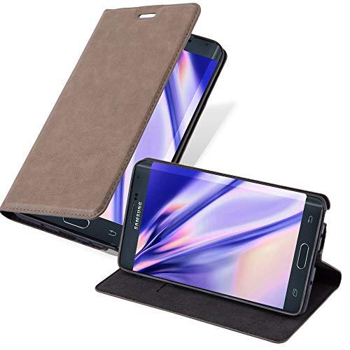 Cadorabo Hülle für Samsung Galaxy Note Edge - Hülle in Kaffee BRAUN – Handyhülle mit Magnetverschluss, Standfunktion & Kartenfach - Hülle Cover Schutzhülle Etui Tasche Book Klapp Style