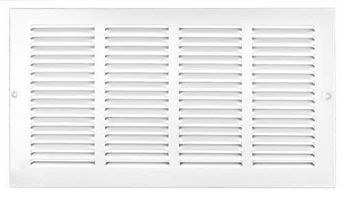 Accord ABRGWH168 Return Grille with 1/2-Inch Fin Louvered, 16-Inch x 8-Inch(Duct Opening Measurements), White