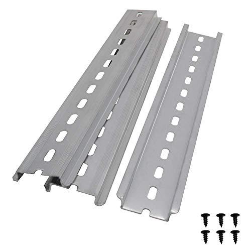 Taiss/3 Stücke DIN-Schiene Schlitz Aluminium RoHS,für Verteilerschrank Schaltschrank einbau, 35mm breit, 7,5mm hoch, lang 250mm/10