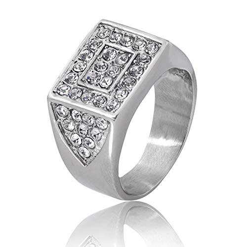 316L roestvrijstalen witte zirconiaeeuwigheidsring voor dames trouwring