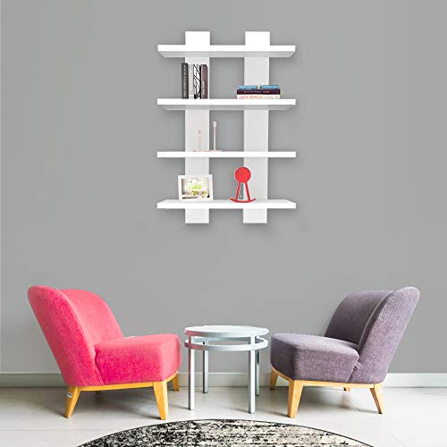 Homemania - Estantería, aglomerado, Blanco, 50 x 17 x 80 cm