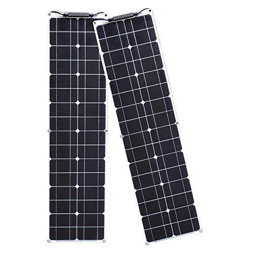 Módulo Solar Fotovoltaico Flexible 100W 12V 2 Piezas Kit Panel Solar 50W Cargador Solar...