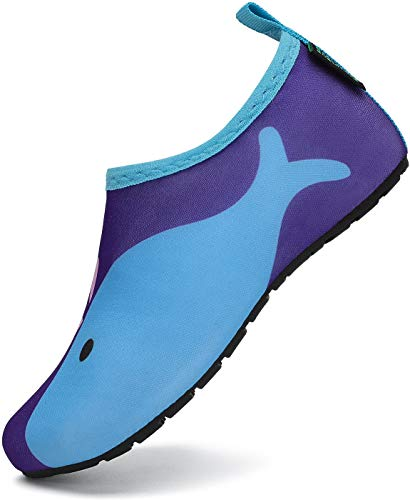 SAGUARO Escarpines Agua Niño Niña Escarpines Surf Hombre Mujer Antideslizante Secado Rápido Zapatos de Agua para Vela,Kayak,Buceo Estilo:5 Azul Gr.36/37