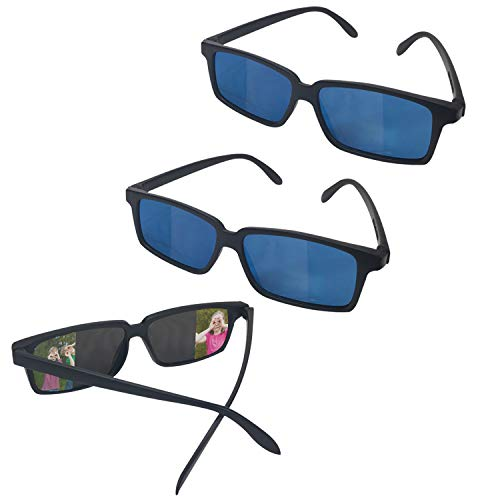 Playko Spy Glasses for Kids – Pack of 3 - See Behind You Glasses with Rear View Mirrors - Rear View Sunglasses – Secret Agent Costume Prop Gift Ideas Fun Party Favors – Cool Spy Stuff for Kids