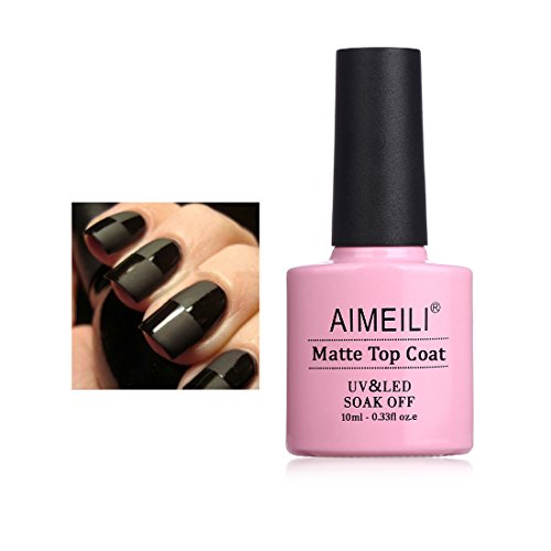 AIMEILI Matt Top Coat Opaco Smalto Semipermente per Manicure Smalti per Unghie in Gel Soak Off UV LED 10ml