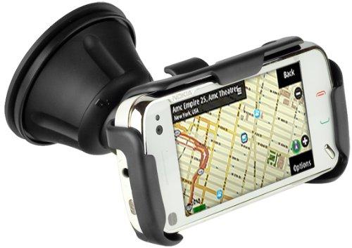Original Nokia CR-116 + HH-20 Halter KFZ Halterung drehbar für Ihr Nokia N97 KFZ Halter Autohalterung + Kfz Ladekabel Mit Aufrollfunktion für Ihr Nokia N97 inkl. dem Original YAYAGO Clean-Pad