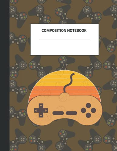 Composition Notebook: Gamer College Ruled 8.5 x 11 Journal: For Kids, Adult College Ruled Notebook / Journal 108 Pages