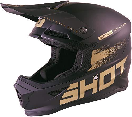 Shot Furious Raw 2.0 Casco Motocross Nero/Oro L (59/60)