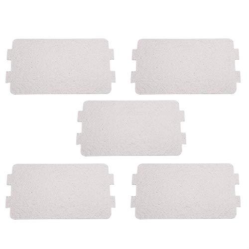 MAGT 5 Stücke Mikrowelle Glimmer Platte Blatt, Mikrowelle Wellenleiter Abdeckung Ersatz Reparatur Zubehör, Ideal Für Küche Mikrowelle (Einzelgröße: 4,6 X 2,5 Zoll)