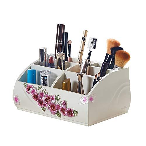 PULLEY Organizador de maquillaje, cajas de exhibición modernas de almacenamiento cosmético para baño, aparador, tocador y encimera