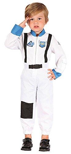 Bristol Novelty CC065 Disfraz de astronauta para niño, negro, XS