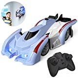 Ropwol Remote Control Car Wall Climbing Rc/Race Car,360°Rotating Stunt Toy Cars,Latest Headlights and Taillight Rechargeable High Speed Cool Toys for Boy Girl Kids Toddlers Birthday Gifts (Blue)