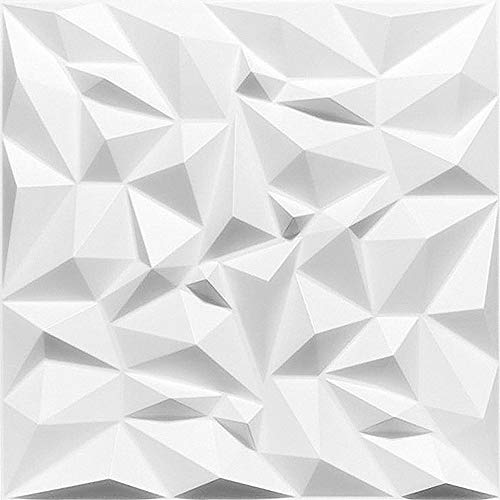 Topceilingtiles 3D Decorativo de la Pared Interior paneles-3D Pared tableros-3D Pared Revestimiento-Ametyst-Blanco (72)