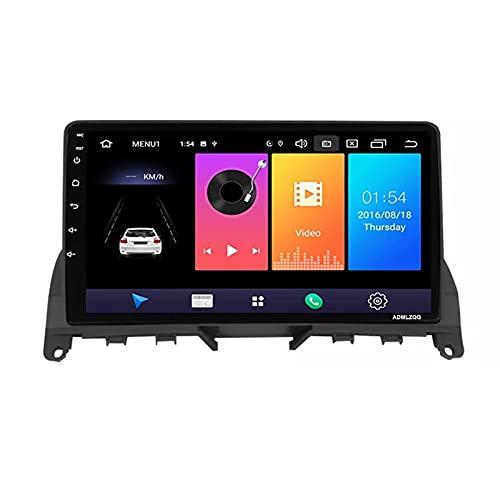 ADMLZQQ Android 10.0 Stereo Auto Bluetooth per Mercedes Benz Classe C 3 W204 S204 2006-2011 Autoradio 2Din Navigazione GPS FM RDS Controllo del Volante Telecamera Posteriore,4 Core,WiFi: 2+32G