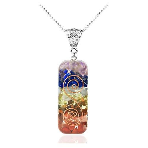 Natürliche Citrin Anhänger Halskette Energie Crystal Stone Frau Schmuck