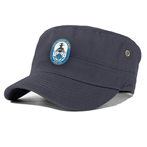 USS Nathan James(DDG-151) Cadet Army Cap Flat Top Sun Cap Military Style Cap Navy