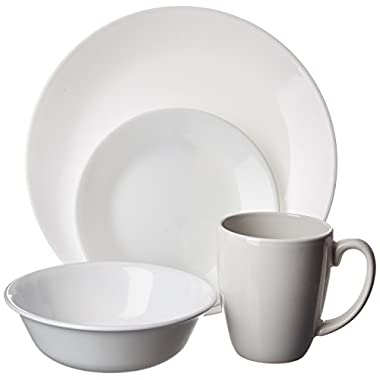 Corelle Livingware 16-Piece Dinnerware Set, Winter Frost White, Service for 4 [DISCONTINUED]
