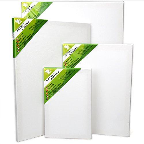 H&S Set of 4 Artist Blank Canvas Frame Stretcher Acrylic Oil Water Painting Board 20x30cm, 30x40cm, 40x50cm, 50x60cm