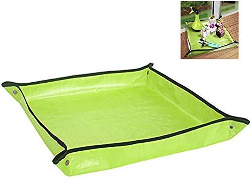 Faltbare Gartenmatte, zum Eintopfen, für Pflanzen, große Hochbeete und wasserdichte Bepflanzungsmatte, grün