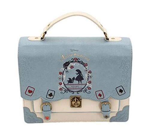 DDHZTA Lady Es Shoulder Bag Schräg Schultertasche Alice Im Wunderland Spielkarte Silhouette,Blue