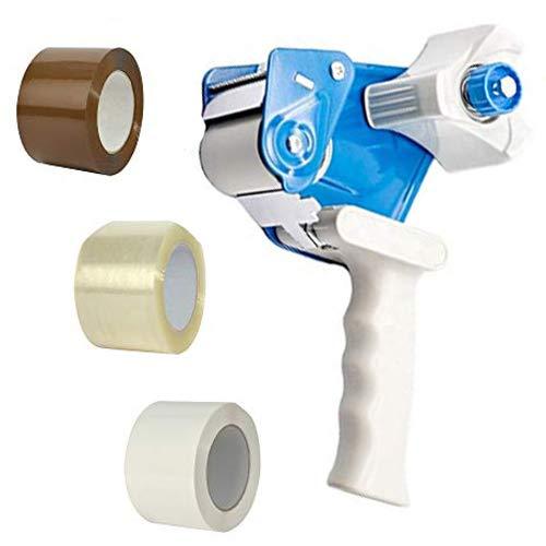 Dispenser Nastro Adesivo Imballaggio fino a 75mm x 132m - Pistola Tendinastro Porta Scocht professionale