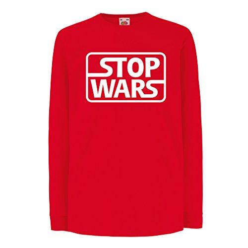 lepni.me Kids T-Shirt Stop Wars Politieke kwesties citaten - Keep The Peace