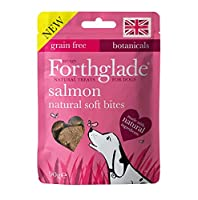 8x 90g Natural Salmon soft bites Grain free, we don't add any grains to this recepie, so it's great for dogs with sensitive tummies. Hand baked soft bites made with natural ingredients Includes botanicals & yucca extract for dogs aged 2 months +